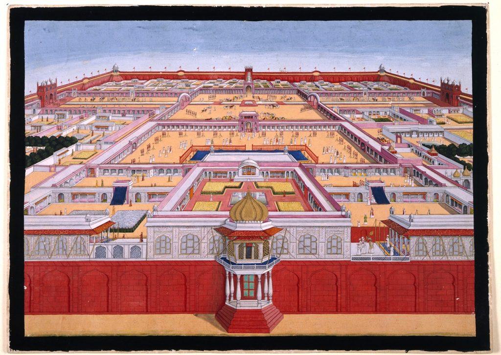 red fort delhi birds eye view